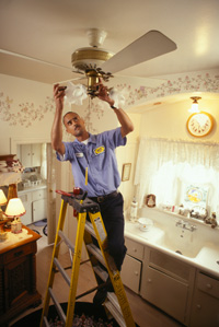 The DC electricians at Kolb Electric provide ceiling fan intallation in DC, Maryland, and Virginia. Call today!